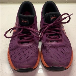 ASICS. fuzeX Lyte. Purple & Orange. Size 8.5.
